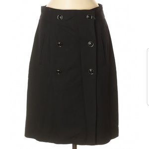Banana Republic Button Black Skirt 8
